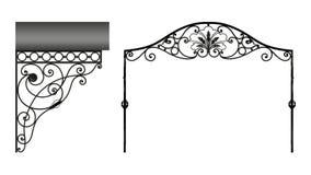 Dokonanego żelaza baldachim royalty ilustracja
