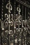 Dokonanego żelaza ogrodzenia szczegół Zdjęcia Royalty Free