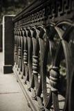 Dokonanego żelaza ogrodzenia szczegół Obrazy Royalty Free