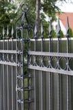 Dokonanego żelaza ogrodzenie obraz royalty free