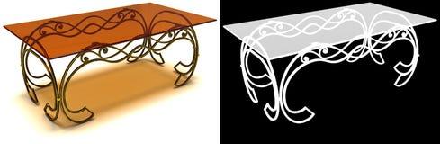 Dokonany żelazo stolik do kawy z maską Zdjęcia Stock