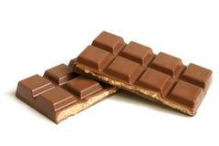 dokrętka czekoladowi kawałki Fotografia Stock