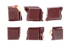 dokrętka czekoladowi kawałki Zdjęcie Stock
