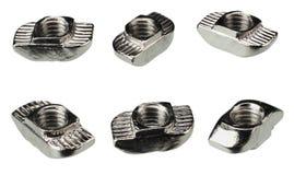 dokrętka dla aluminium profili/lów odizolowywających na białym tle obraz stock