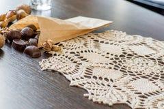Dokrętki i czekolada Obraz Royalty Free