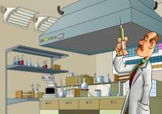 Dokter in het laboratorium Stock Fotografie
