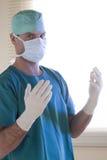 Doktor betriebsbereit zur Chirurgie stockbilder