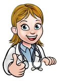 Doktor Cartoon Character Thumbs oben Stockfotos