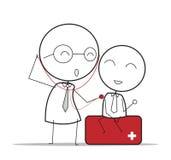 Doktor Check Lizenzfreie Abbildung