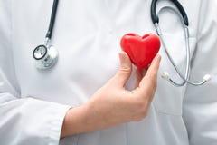 Doktor, der Herz hält Stockfotos