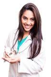 Doktor, der Pillen zeigt Lizenzfreie Stockfotografie