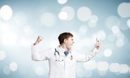 Doktor in der Raserei Lizenzfreie Stockbilder
