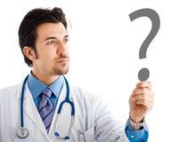 Doktor, der Zweifel hat Stockfoto
