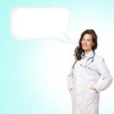 Doktor för ung kvinna Fotografering för Bildbyråer