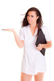 Doktor-Gefühl lokalisiert auf weißem Hintergrund Lizenzfreies Stockfoto
