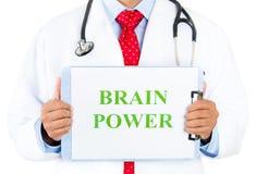 Doktor-hjärna makt Arkivfoton