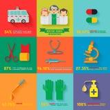 Doktor Icon Infographic Lizenzfreie Stockbilder
