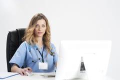 Doktor im Labor Stockfotografie