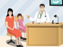 Doktor Instructing der Patient Stockfotos