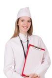 doktor isolerad kvinna Arkivbild