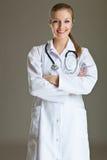 doktor isolerad medicinsk vit kvinna Arkivbilder