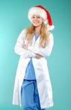 Doktor - Kerstmis stock foto's