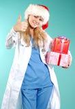 Doktor - Kerstmis stock fotografie