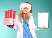 Doktor - la Navidad Fotografía de archivo