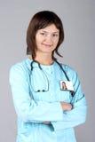 doktor młodą kobietą Obrazy Stock