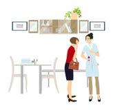 Doktor med patienten vektor illustrationer