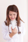 Doktor mit Birne Stockfoto