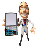 Doktor mit einem Handy Lizenzfreie Stockfotos
