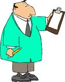 Doktor mit einem Klemmbrett Stockbild
