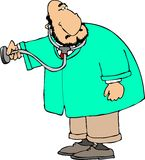 Doktor mit einem Stethoskop Stockbild