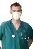 Doktor mit einer Schablone Stockbild