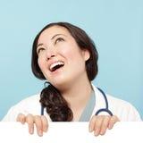 Doktor mit Exemplarplatz Lizenzfreie Stockfotos