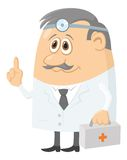 Doktor mit Fall lizenzfreie abbildung