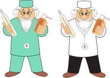 Doktor mit Medizin stock abbildung