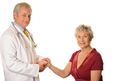Doktor mit Patienten Lizenzfreies Stockfoto