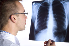 Doktor mit Röntgenstrahl Lizenzfreies Stockfoto