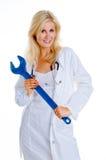 Doktor mit Schlüssel Lizenzfreie Stockfotos