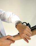 Doktor mit Stethoskop Stockbilder