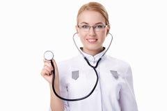 Doktor mit Stethoskop Lizenzfreies Stockbild