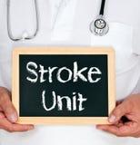 Doktor mit Stroke Unit-Zeichen Lizenzfreie Stockfotografie