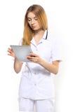 Doktor mit Tablette Lizenzfreie Stockfotografie