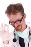 Doktor mit Tablette Stockfotografie