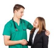 Doktor och affärskvinna fotografering för bildbyråer