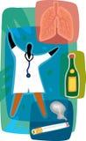 Doktor och sunda lungs Vektor Illustrationer