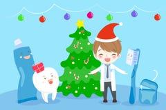 Doktor och tand stock illustrationer