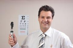 Doktor oder Optometriker Stockbild